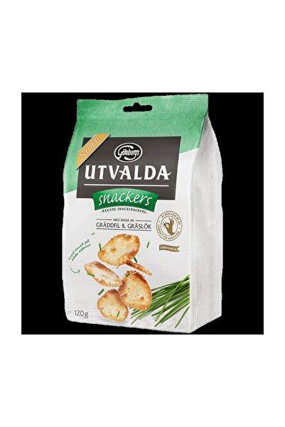 UTVALDA Ekşi mayalı ve yeşil soğanlı kraker 120g