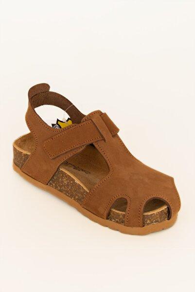 Sanbe Hakiki Deri Çocuk Sandalet