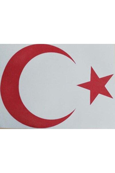 Sunix Türk Bayrağı Oto Sticker Kırmızı Amblem 36x28 Cm