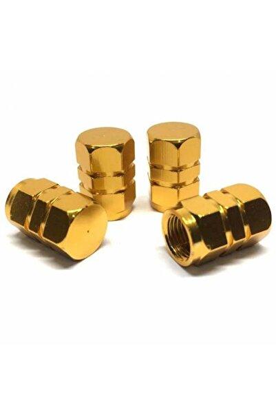 Sunix Alüminyum Altıgen Sibop Kapağı 4lü Altın Sarı