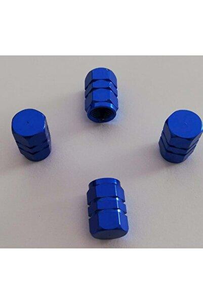 Sunix Alüminyum Altıgen Sibop Kapağı 4 Lü Mavi