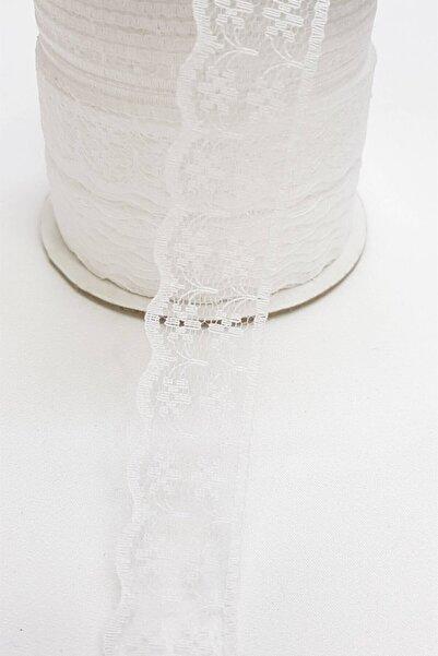 Hayalperest boncuk Beyaz Dantel Kurdele 2,5 cm