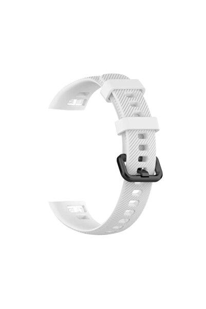 Tiegem Huawei Honor Band 5 Silikon Akıllı Bileklik Kayışı Kordonu - Beyaz