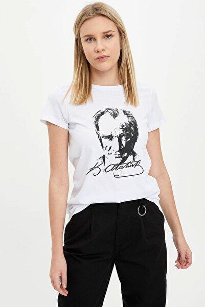 DeFacto Atatürk Baskılı Kısa Kollu Tişört