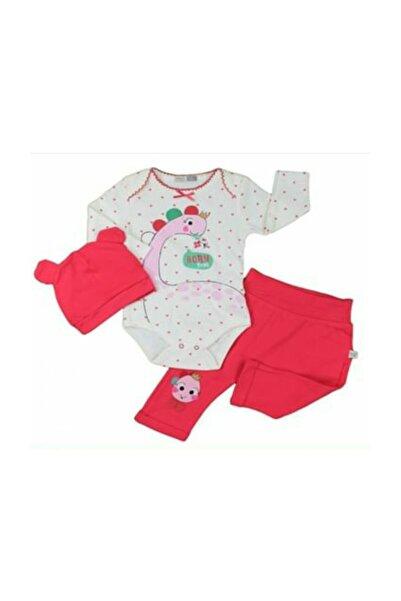 İmaj Kız Bebek Kırmızı Dino Girl  3'lü Takım