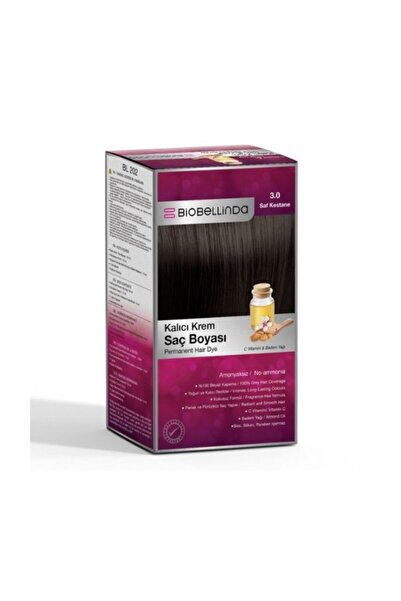 BioBellinda Saç Boyası 3.0 Saf Kestane