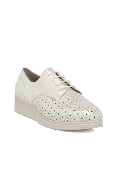 Tergan Beyaz-simli Deri Kadın Ayakkabı 64302n0n