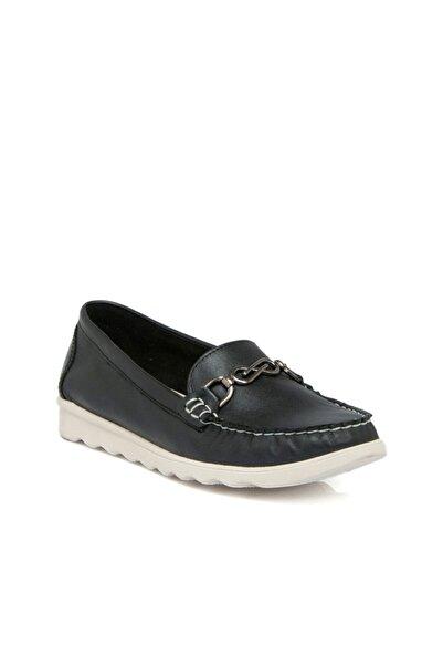 Tergan Siyah Deri Kadın Ayakkabı 64520a23