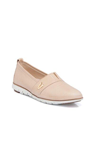 Tergan Bej Deri Kadın Ayakkabı 64468a25
