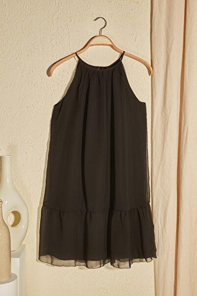 Siyah Volanlı Elbise TWOSS20EL2904
