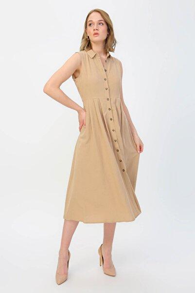 Fabrika Kadın Bej Elbise 504393187 Boyner