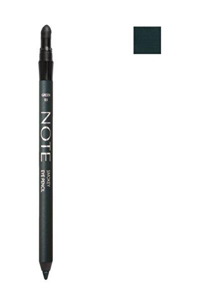 NOTE Suya Dayanıklı Yeşil Göz Kalemi - Smokey Eye Pencil Waterproof 03 geen 8680705308032