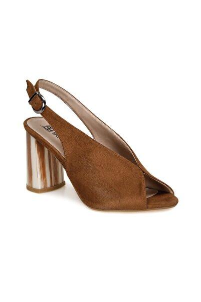 Butigo Kadın Topuklu Ayakkabı Tiede Taba