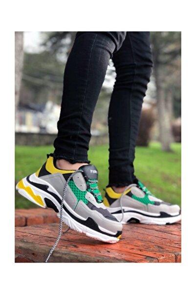 Meli Ayakkabı Yeşil Yüksek Taban Sneakers Ayakkabı