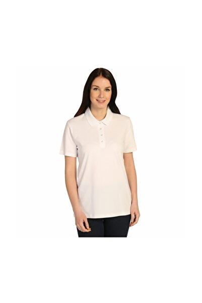 Solo Kadın Beyaz Düz Polo Yaka Tişört