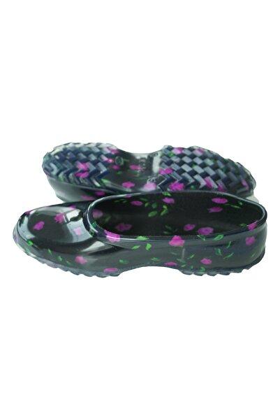 Aqua Mor Çiçek Detaylı Hobi Bahçe Ayakkabısı