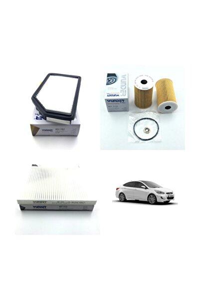 WUNDER Hyundai Accent Blue 1.6 Crdi Dizel ( 2012 - 2016 ) Filtre Bakım Seti
