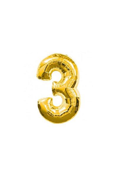 NEWOTO Folyo Balon Rakam 3 Altın 40 Inc Pk:1
