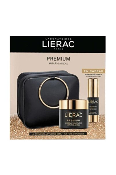 Lierac Premium Voluptueuse 50 ml Premium Eye Care 15 ml (Çantalı) 3508240006815