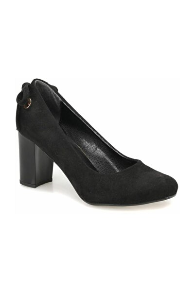 Miss F Dw18030 Siyah Kadın Topuklu Ayakkabı
