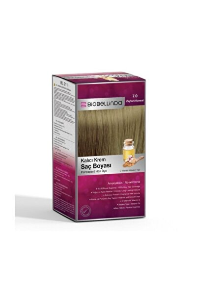 BioBellinda Saç Boyası 7.0 Zeytuni Kumral