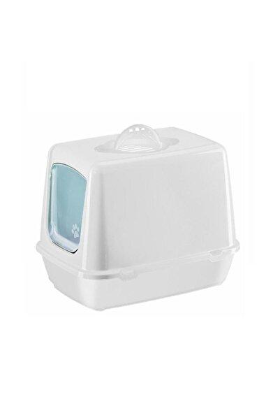 SERA Beyaz Kapalı Kedi Tuvaleti, Koku Filtresi, Kürek 50x40x36 cm