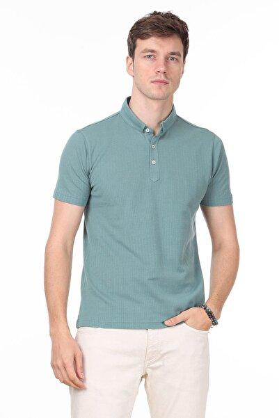 Ramsey Erkek Açık Yeşil Jakarlı Örme T - Shirt RP10119895