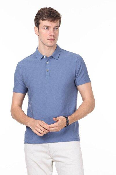 Ramsey Erkek Koyu Mavi Jakarlı Örme T - Shirt RP10119896