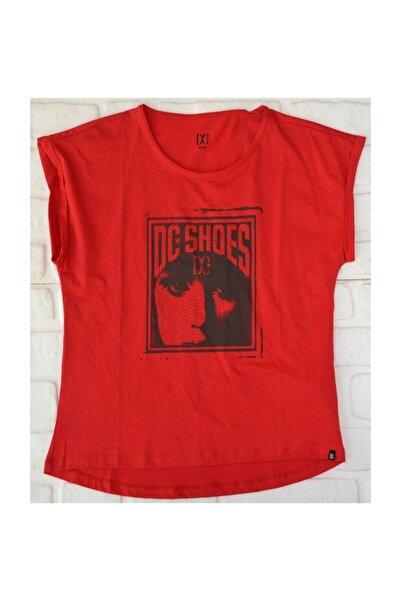 DC Pangea Tee Red Kadın   Tişört