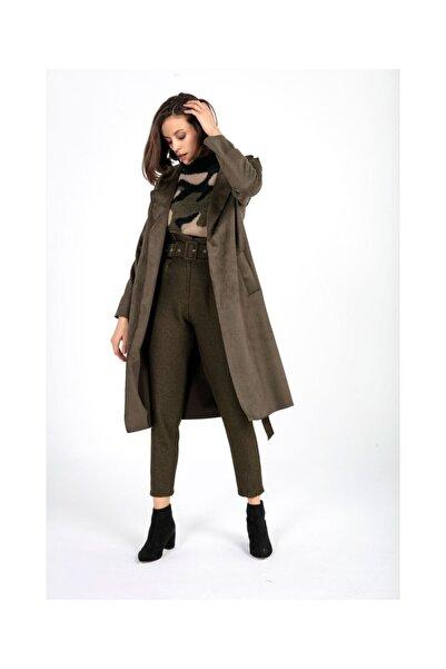 Tiffany K20328 Çıtçıtlı Süet Trenchcoat