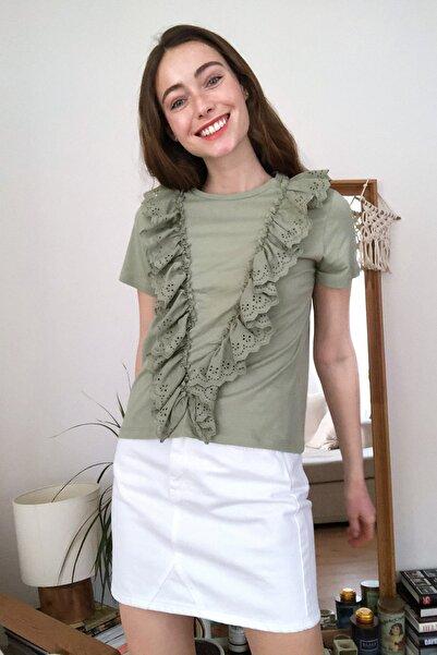Mint Brode Detaylı Örme Bluz TWOSS20BZ1403