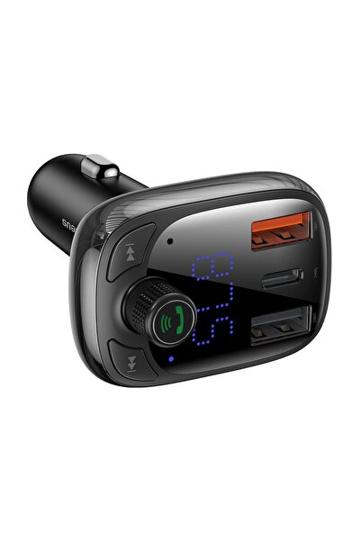 Ally Orijinal Baseus Bluetooth Aktarım Mp3 Araç Kiti 2 Usb Çıkışlı Araç Şarjı, Araç Müzik Kiti Ve Şarjı