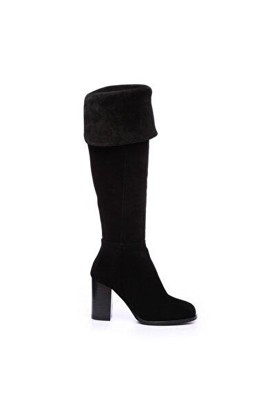 KEMAL TANCA Hakiki Deri Siyah Kadın Casual Çizme 94 1104 C BN CIZME