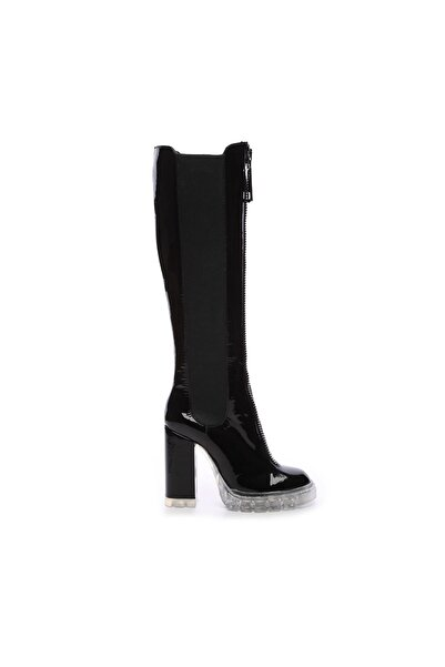 KEMAL TANCA Hakiki Deri Siyah  Kadın Çizme Çizme 299 B28 1301C BN CZM SK20