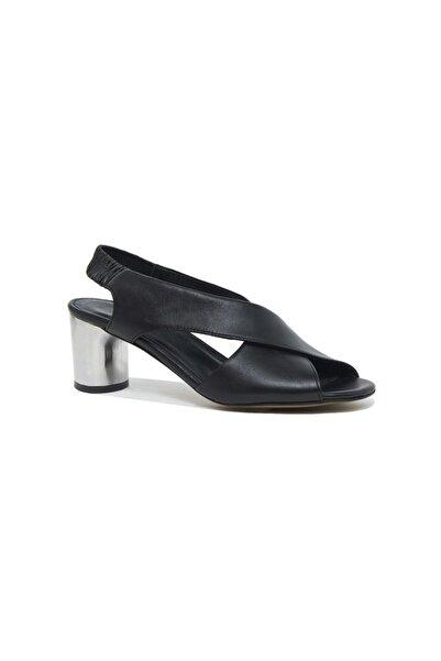 Desa Arrianna Kadın Deri Gümüş Topuklu Sandalet