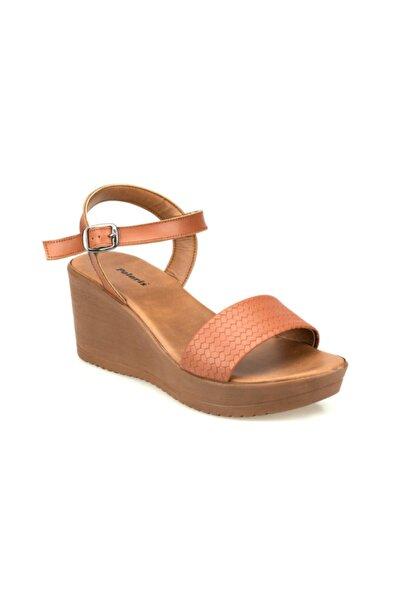 Polaris Kadın Taba Renk Dolgu Topuk Tokalı Ayakkabı