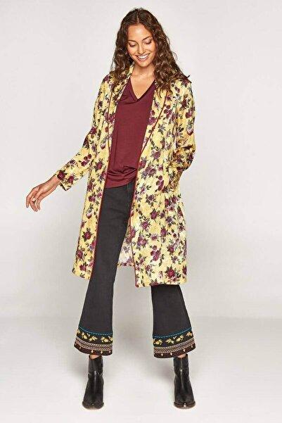 Faik Sönmez Kadın Sarı Desenli Ceket U37698