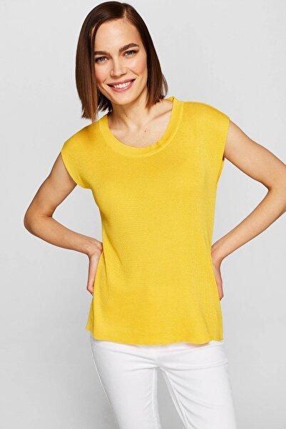 Faik Sönmez Kadın Sarı Triko Bluz 38988 U38988