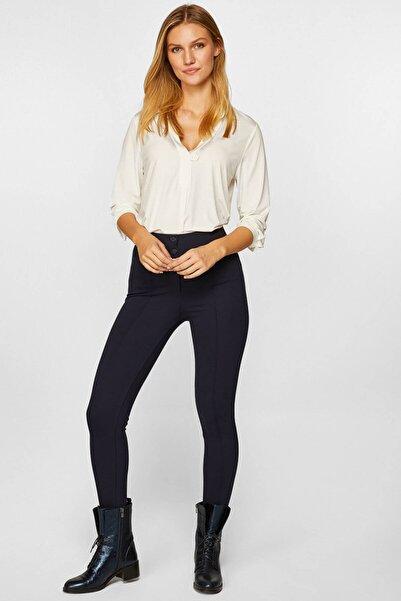 Faik Sönmez Kadın Lacivert Normal Bel Slim Fit Pantolon 39063 U39063