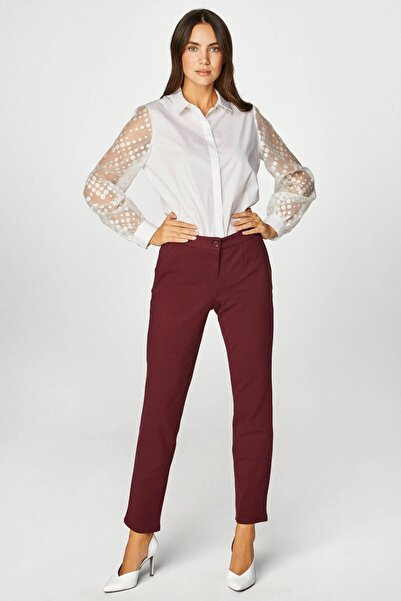 Faik Sönmez Kadın Bordo Pantolon 39518 U39518