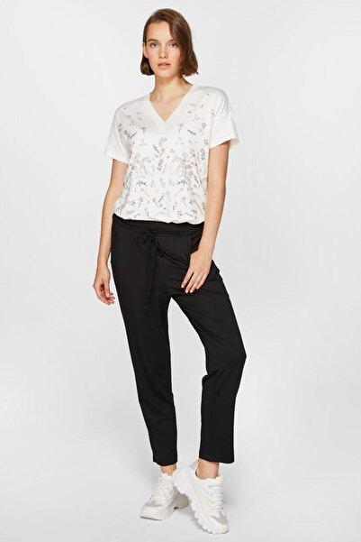 Faik Sönmez Kadın Siyah Comfort Pantolon 39059 U39059