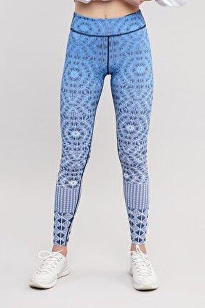 Mavi Sporcu Kadın Tayt ES-3532