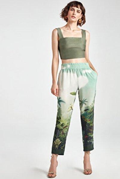 Kadın Desenli Desenli Havuç Pantolon N20Y-3211-0007