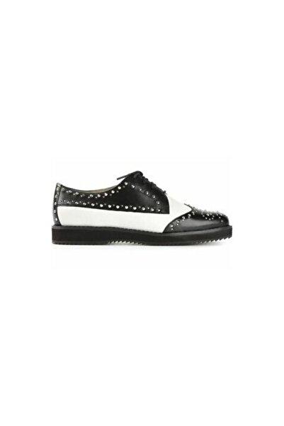 Michael Kors Sofie Oxford Ayakkabı Siyah Beyaz 40t4sofs1l