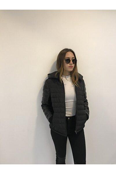 ASUS Kadın Siyah Kapüşonlu Ceket