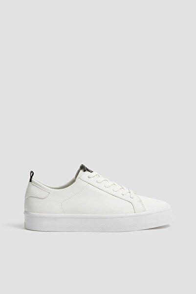 Pull & Bear Kadın Beyaz Yılan Desenli Detaylı Spor Ayakkabı 11211640