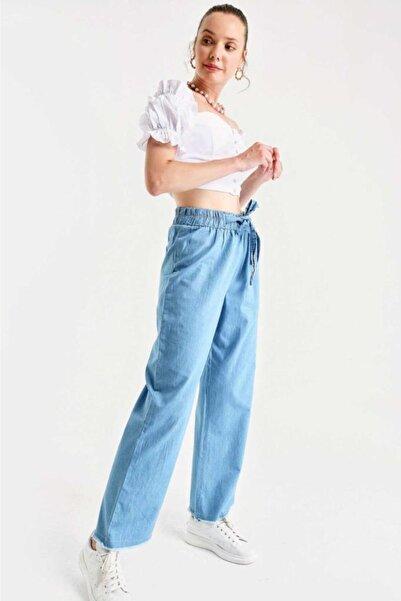 Bigdart Kadın Mavi Bol Paça Jean Pantolon 6469