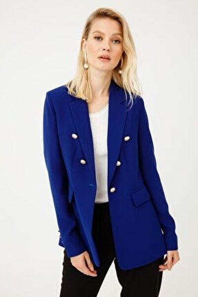 Kadın Lacivert Cepli Ceket