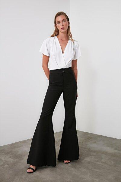 TRENDYOLMİLLA Siyah İspanyol Bol Paça Pantolon TWOAW21PL0189