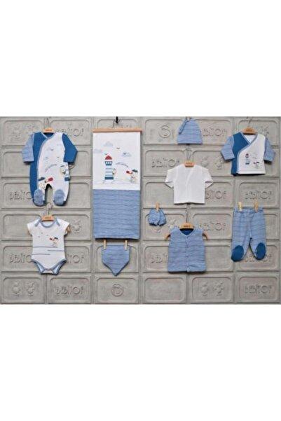 Bebitof Unisex Bebek Sarı Hastane Çıkış Seti 10'lu
